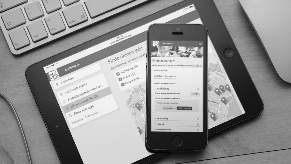 Tool AzubiMatch auf Tablet & Smartphone
