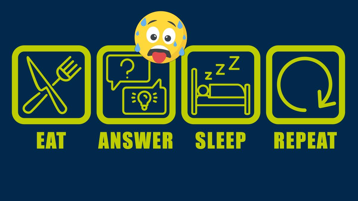 eat answer sleep repeat