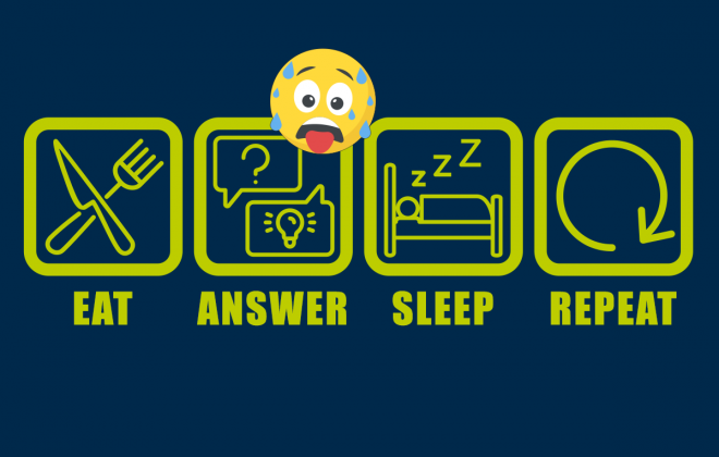 eat answer sleep repeat
